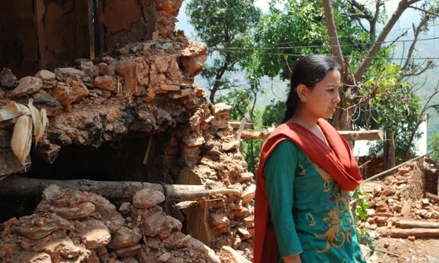 Devastation left after earthquake.