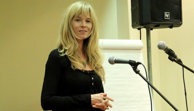 Jeanne Whelan speaking at the Tirzah conference in the Pearse Hotel Dublin on the 10-11-2014